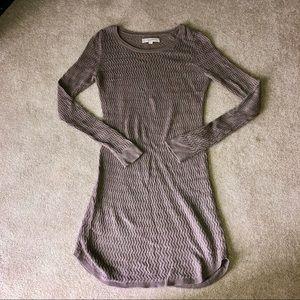 EUC   LOFT   Toupe Knit Long Sleeve Sweater Dress